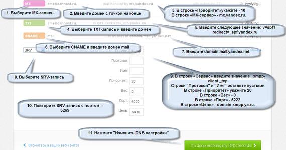 Как изменить MX-запись для Яндекс Почты в cPanel